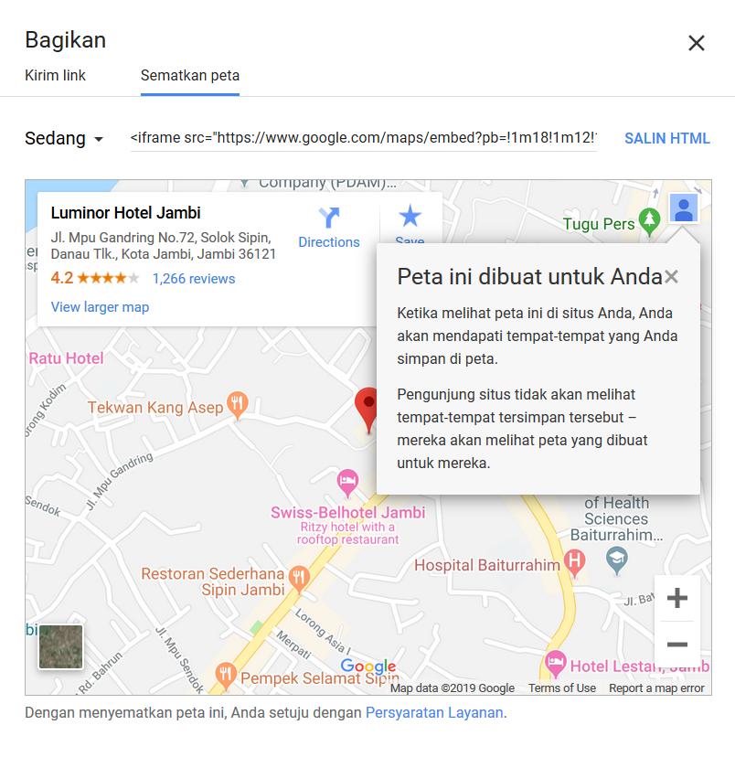 Source Code Google Map Untuk pasang di Blog Website
